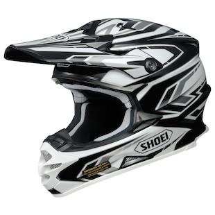 Shoei VFX-W Block Pass Helmet Black/White/Silver / LG [Blemished - Very Good]