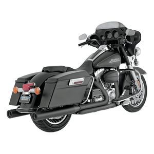 """Vance & Hines 4"""" Blackout Round Slip-On Mufflers For Harley Touring 1995-2016"""