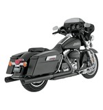 "Vance & Hines 4"" Blackout Round Slip-On Mufflers For Harley Touring 1995-2016"