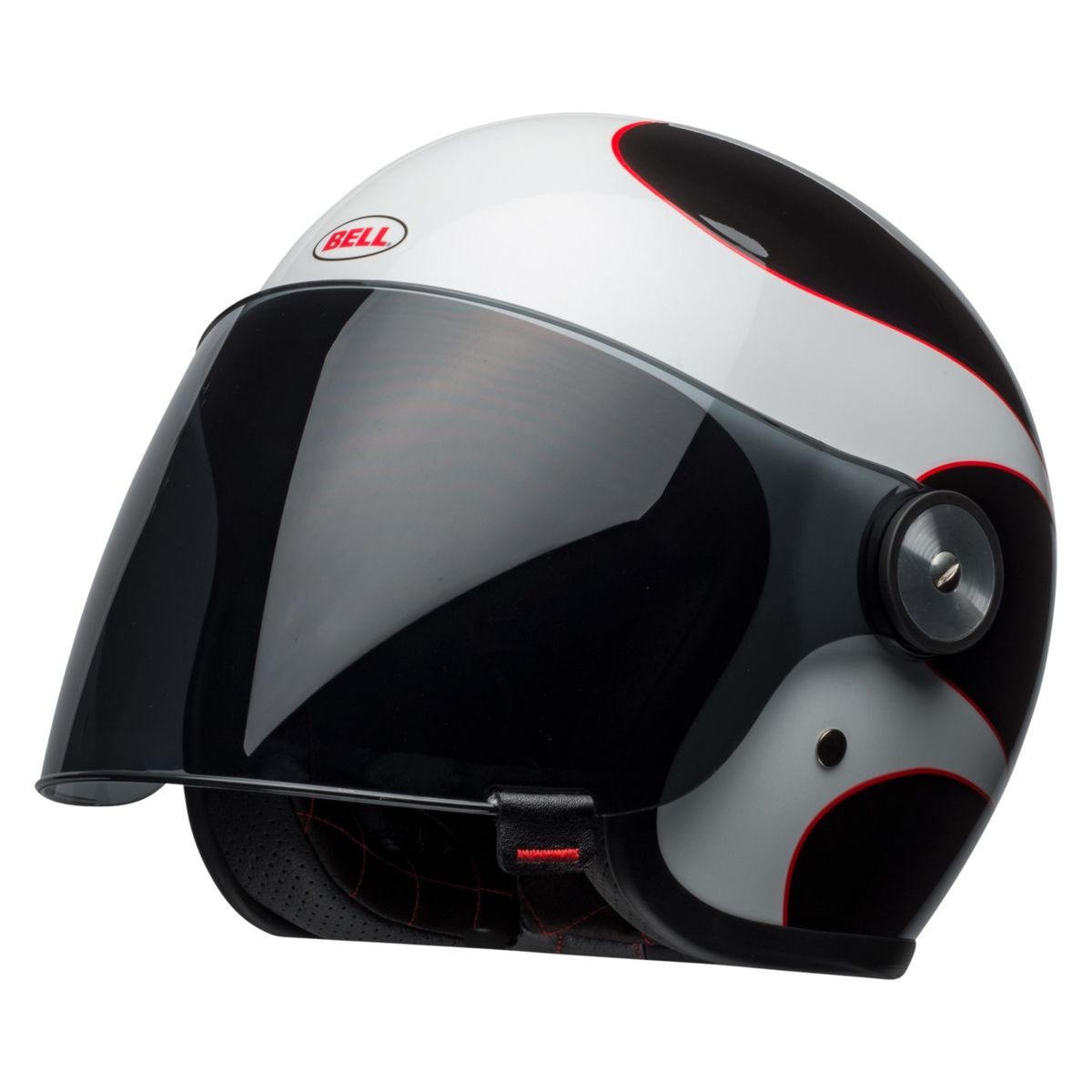 Black, White, Boost, Checks *Fast Free Shipping* Bell Riot Motorcycle Helmet