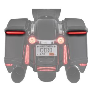 Ciro Bag Blades Lights For Harley Touring