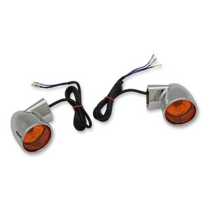 Drag Specialties Front Turn Signals For Harley 1986-2018