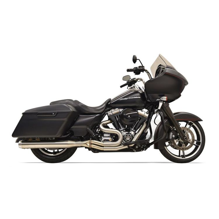 Bassani Road Rage III Stainless 2-Into-1 Straight Can Exhaust For Harley Touring 2017-2018