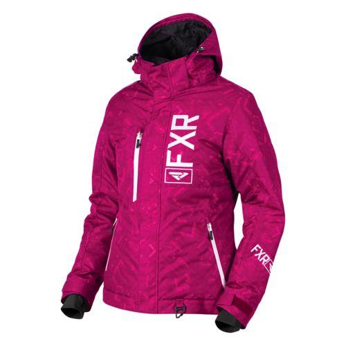 Fxr Racing Women S Wineberry Plaid White Fresh Jacket 16203