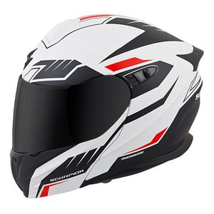 CASCO MODULARE SCORPION NEW EXO 920 SOLID NEON RED FLUO MOTO SCOOTER