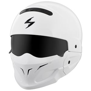 Scorpion EXO Covert White Helmet