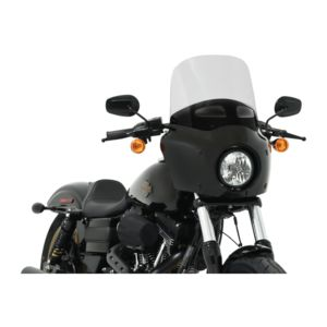 Memphis Shades Vented Road Warrior Windshield For Harley 1980-2019