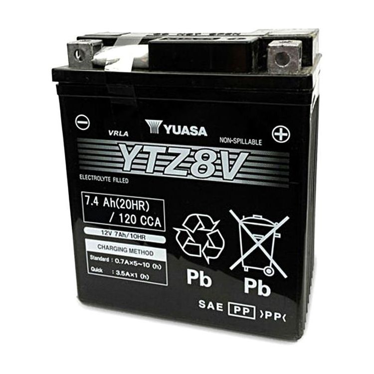 Yuasa YTZ8V Factory Activated AGM High Performance Battery