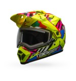 Bell MX-9 Adventure Tagger Double Trouble Snow Helmet - Electric Shield