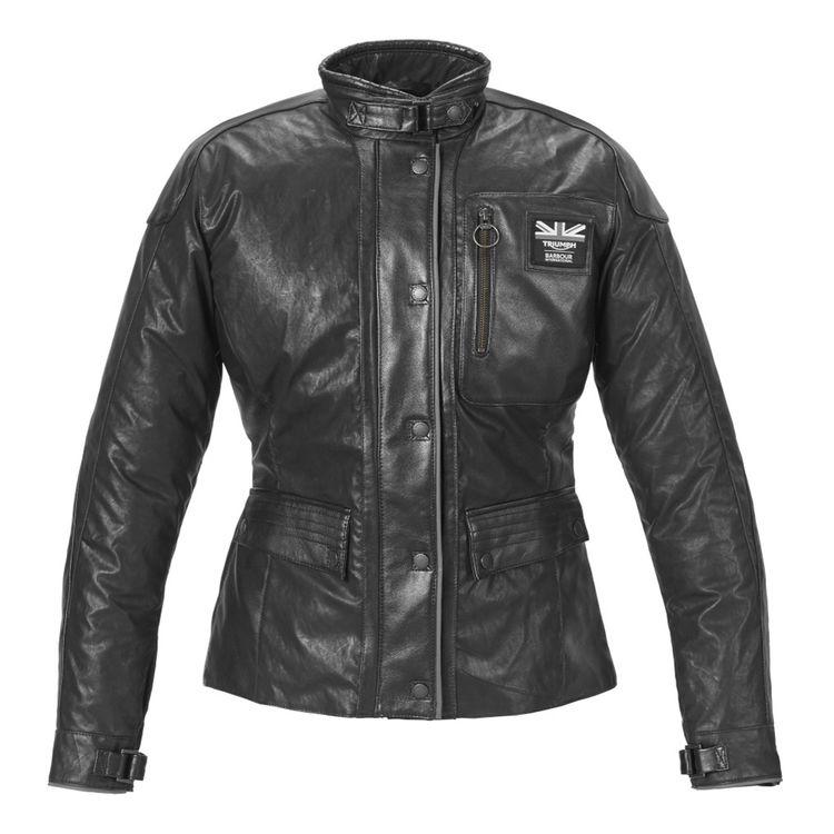 Triumph Barbour Women's Leather Jacket ( XL )