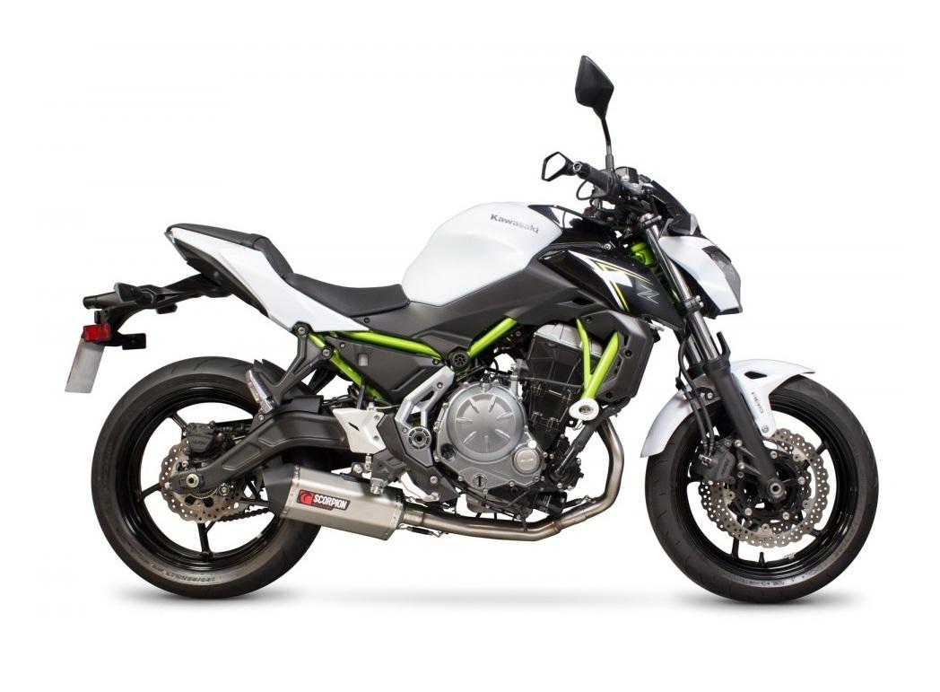 Scorpion Serket Taper Exhaust System Kawasaki Z650 2017 2018