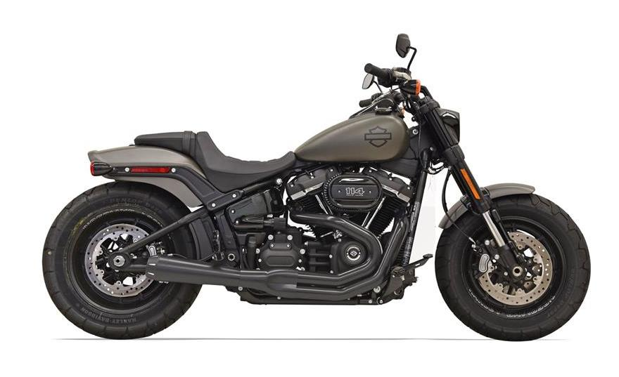 bassani road rage 2 into 1 exhaust for harley softail fat. Black Bedroom Furniture Sets. Home Design Ideas
