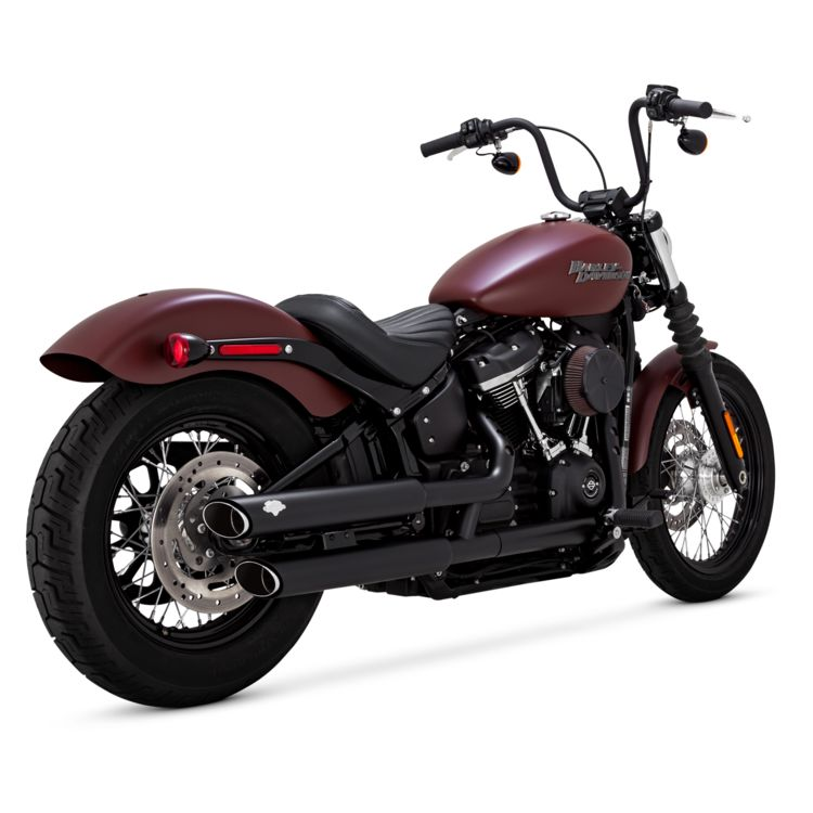 Who Makes A Fair G For The 2020 Fat Bob.Vance Hines 3 Round Twin Slash Slip On Mufflers For Harley Softail 2018 2020