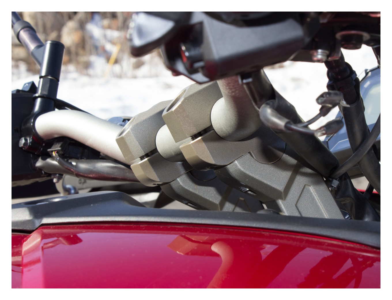 Tour Performance Handlebar Relocation Adapter Risers HR09117 For Yamaha FJ-09