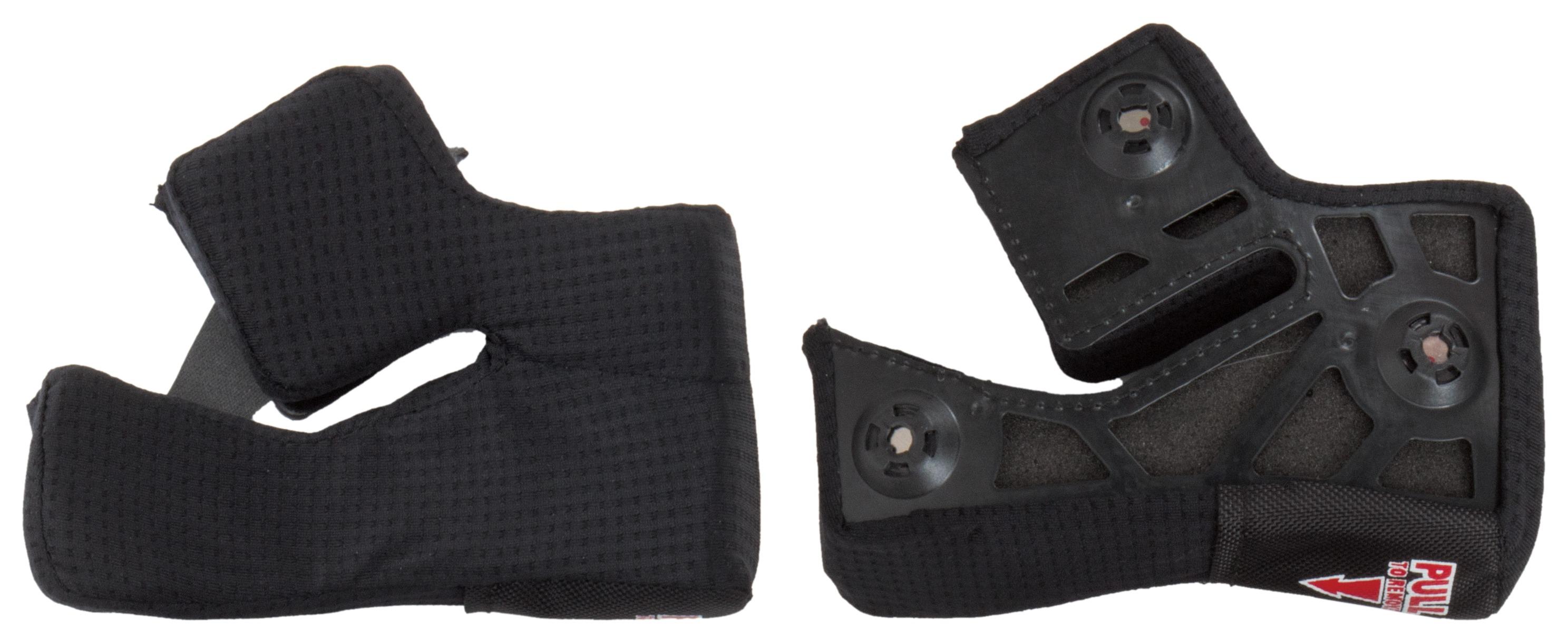 Bell Powersports Star Helmet Replacement X-Static Cheek Pads Radsport 25 mm