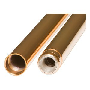 Custom Cycle Engineering 49mm Gold Fork Tubes For Harley 2006-2016