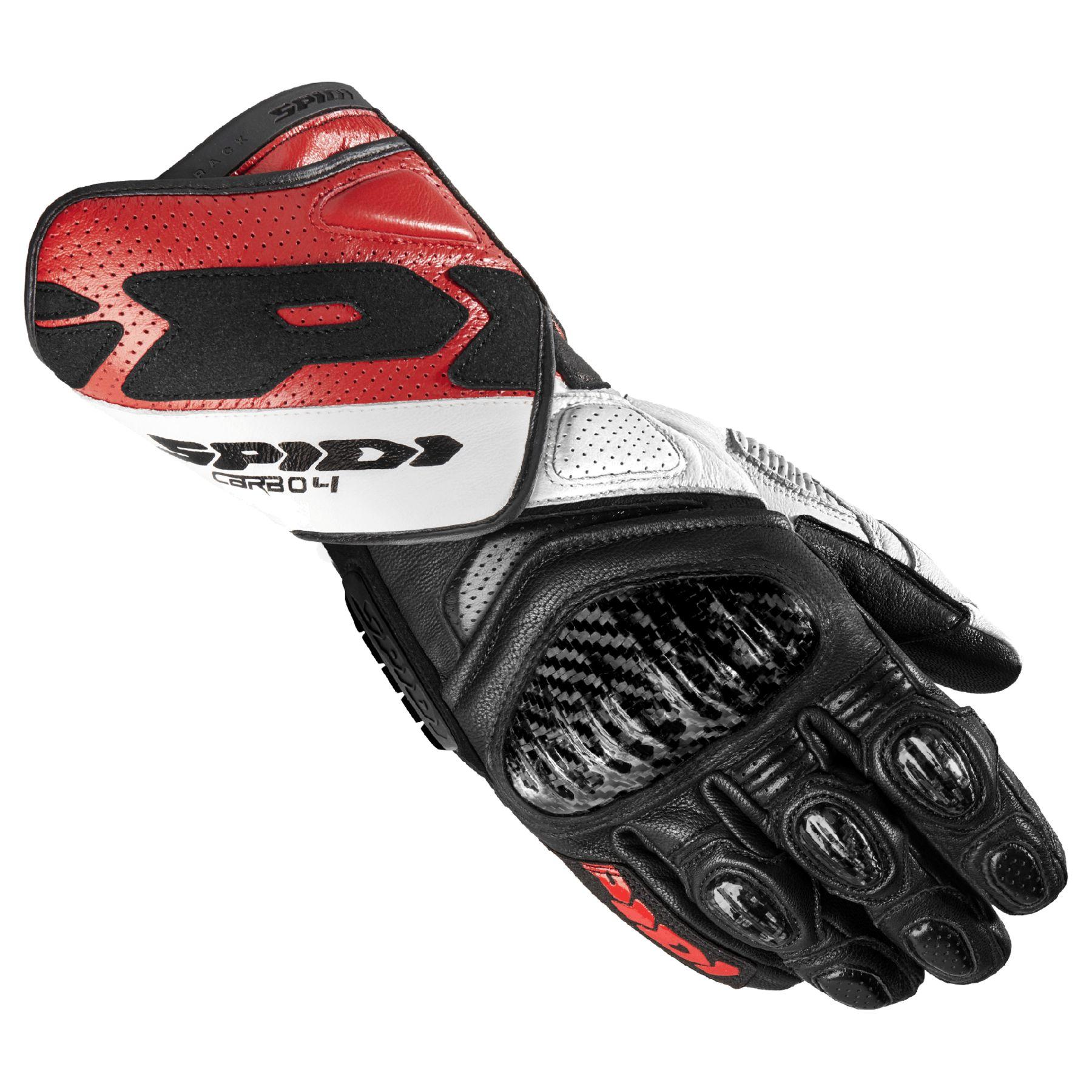 Spidi STR-2 Street Riding Gloves SMALL Black Silver Brand New