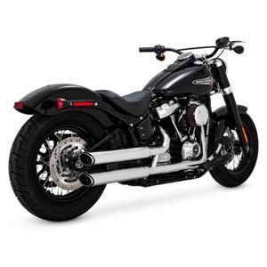 "Vance & Hines 3"" Round Twin Slash Slip-On Mufflers For Harley"