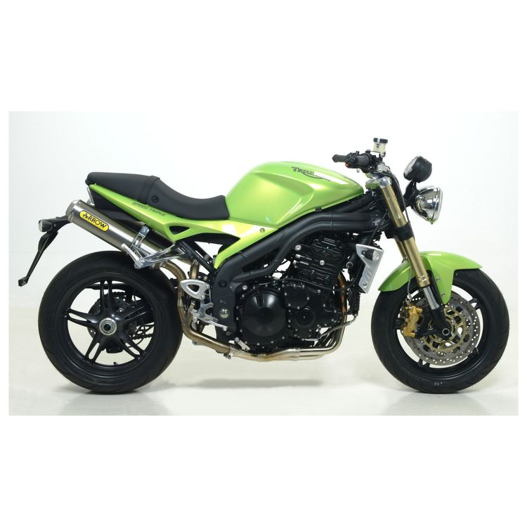 Arrow Round Slip On Exhaust Triumph Speed Triple 2007 2010 10