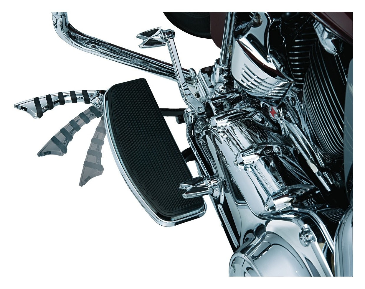 Kuryakyn Chrome Reduced Reach Flip Blades for Harley Touring Softail Dyna