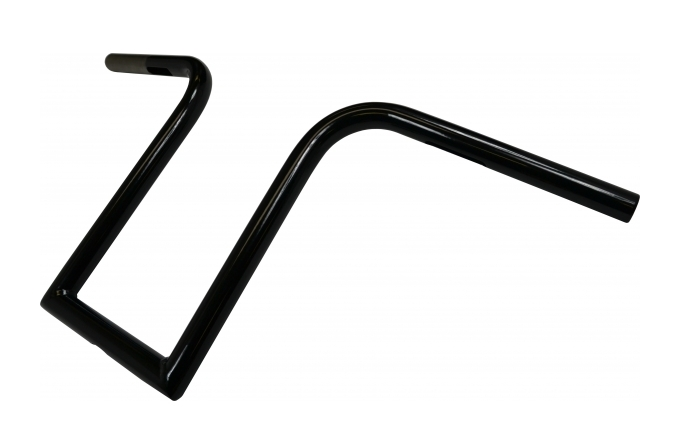 "LA Choppers 1/"" Old School Bourbon Ape Handlebars 8/"" Black LA-7381-08B"