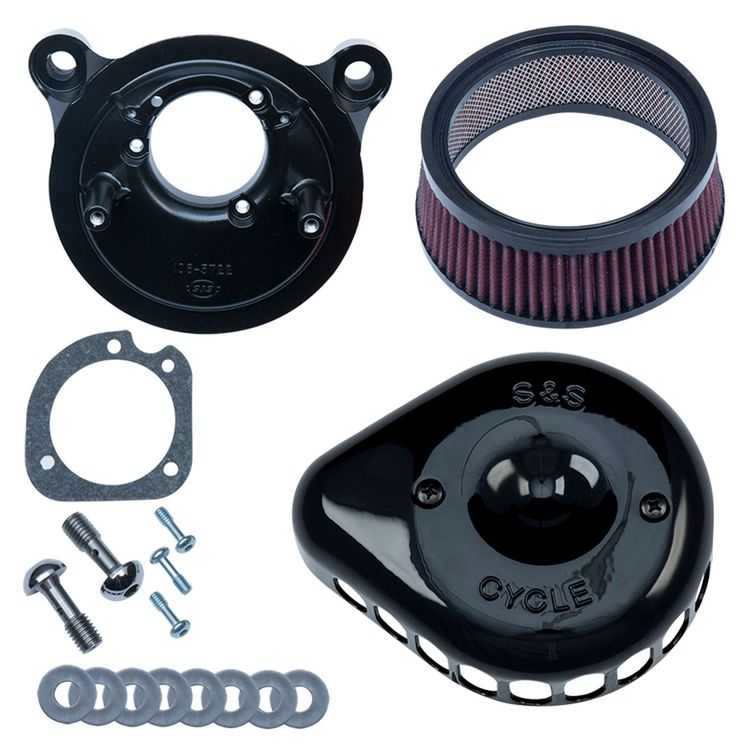 S&S Mini Teardrop Stealth Air Cleaner Kit For Harley