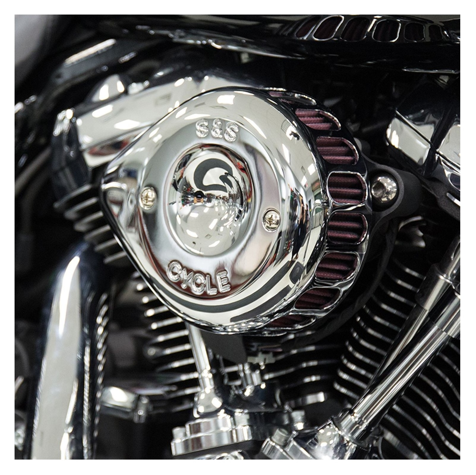 S&S Mini Teardrop Stealth Air Cleaner Kit For Harley | 10