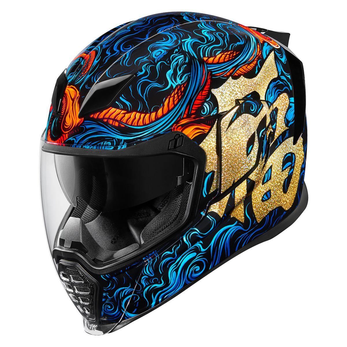 Icon Motorcycle Airflite Helmet Inky Blue