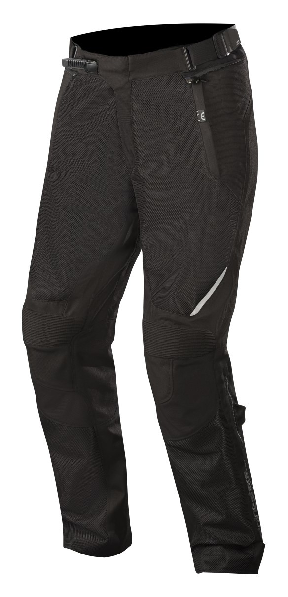 Black//Black Alpinestars WAKE Air Textile//Mesh Motorcycle Over-Pants
