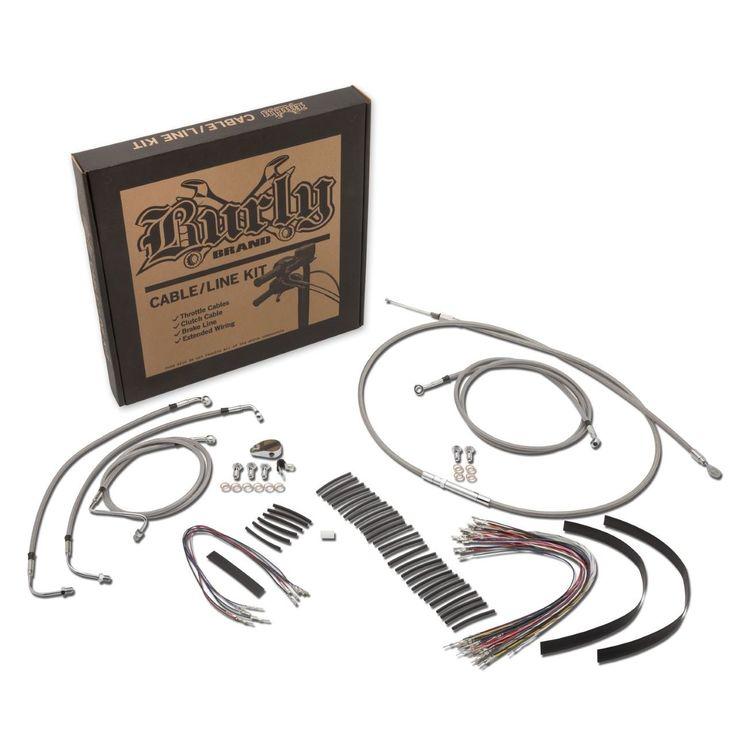 Burly Handlebar Cable Installation Kit For Harley | 10% ($16.99) Off on harley motorcycle helmet kit diagram, harley speedometer wiring diagram 2012, harley davidson wiring harness kit, cooling fan wiring harness, harley sportster wire schematics,
