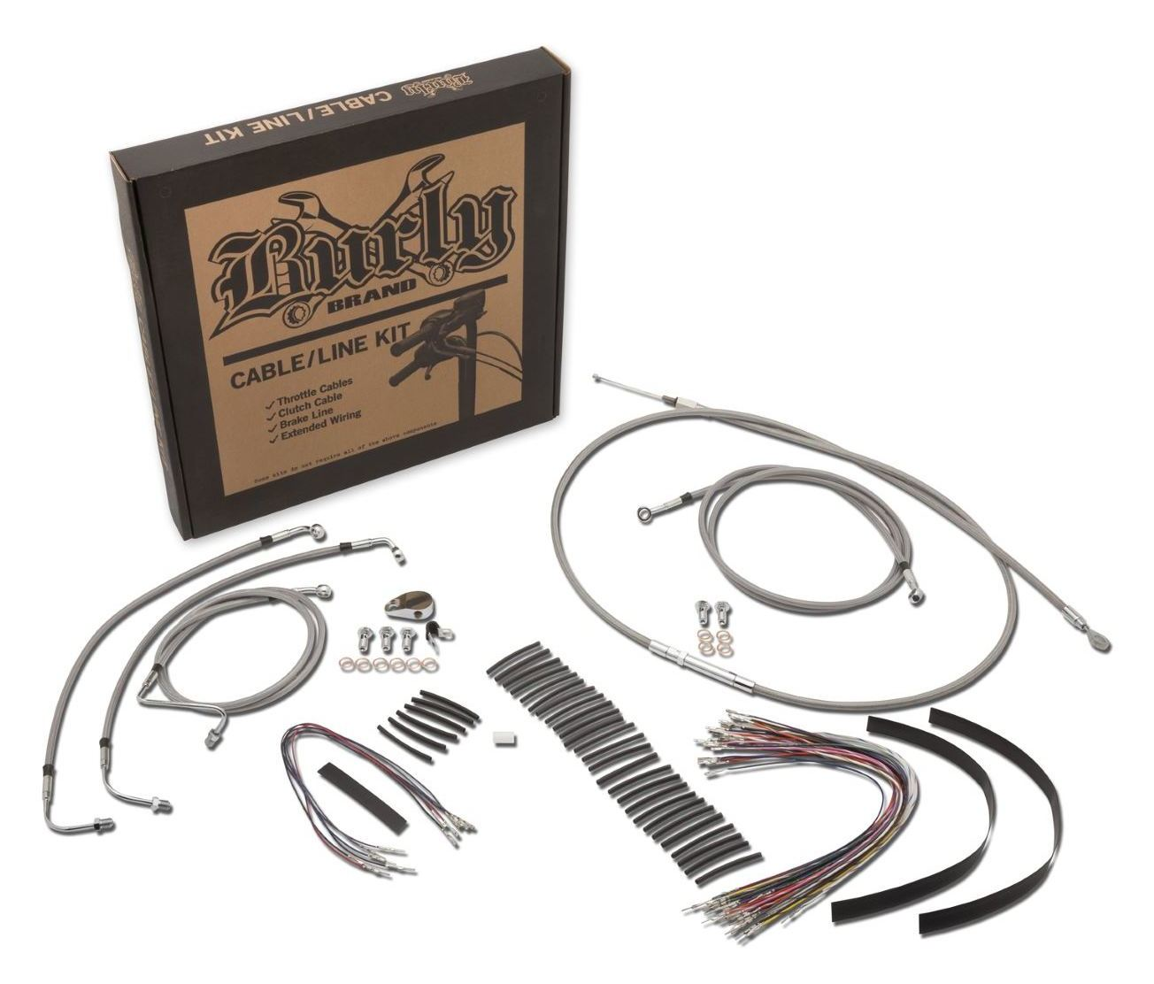 Burly Handlebar Cable Installation Kit For Harley Road King / Glide on