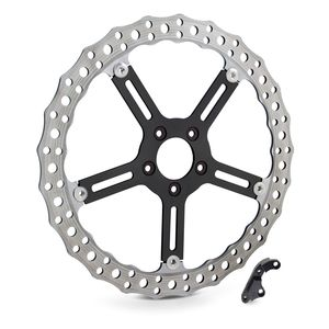 "Arlen Ness 15"" Jagged Big Brake Front Rotor For Harley Dyna / Softail 2006-2017"