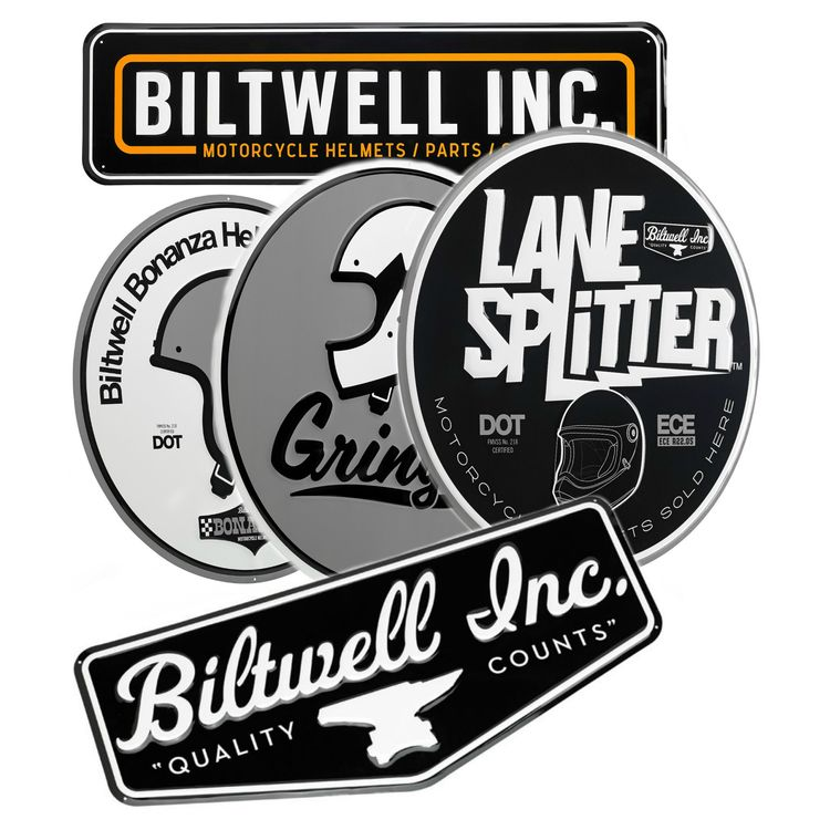Biltwell Metal Shop Sign