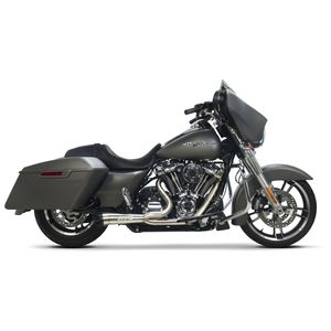 Two Brothers Bagger Polished Stainless 2-Into-1 Shorty Exhaust For Harley Touring 2017-2018