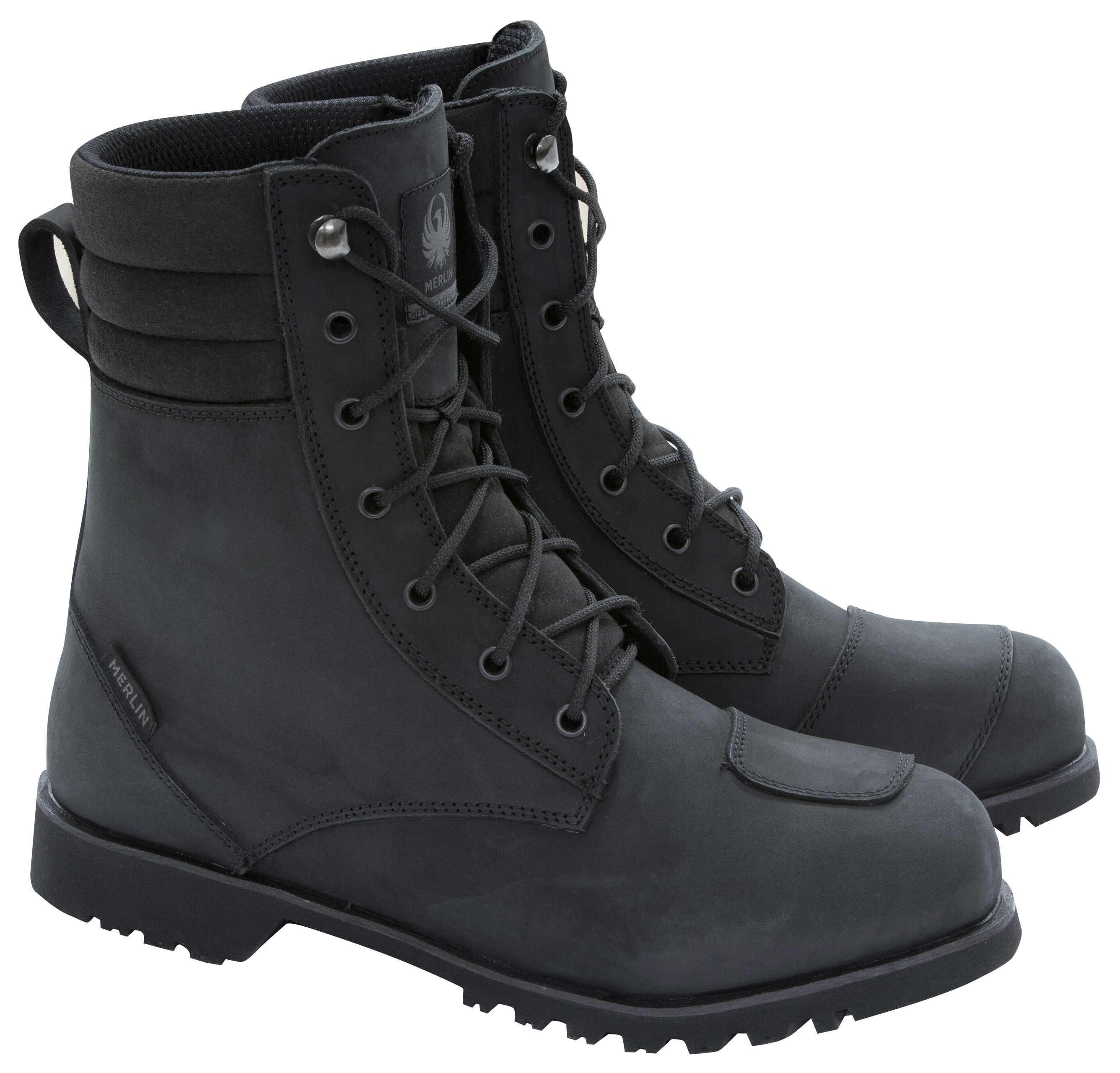 Merlin G24 Combat Ladies Waterproof Leather Motorcycle Boots Black UK 4