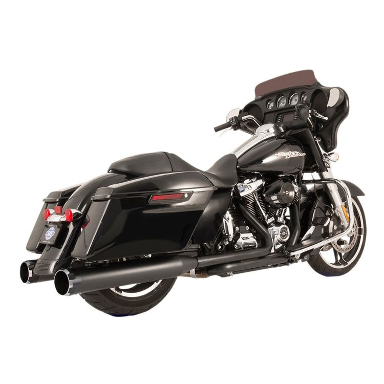 S&S El Dorado Dual Exhaust With Thruster Mufflers For Harley