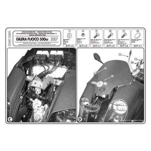 Givi D340KIT Windshield Fit Kit Piaggio MP3 500