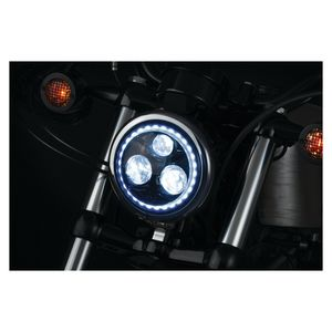 "Kuryakyn Orbit Vision 5 3/4"" LED Halo Headlight For Harley 1984-2018"