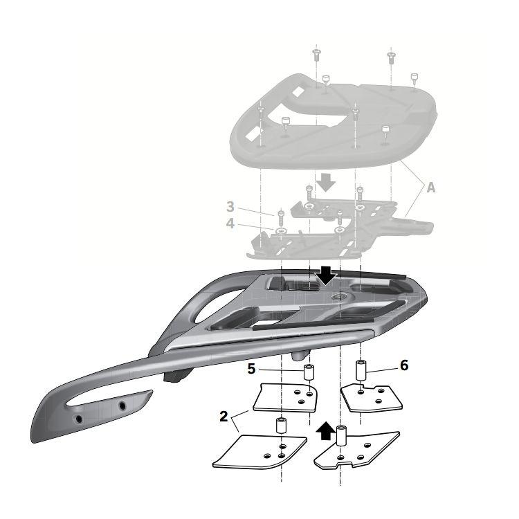 Shad Top Case Rack BMW K1600GT / R1200RT