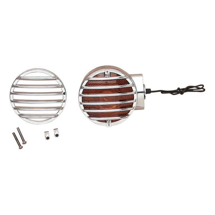 Drag Specialties Turn Signal Grilles For Harley FL 1986-2009