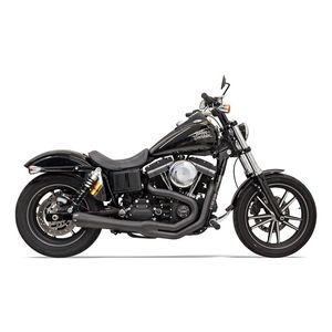 Bassani Road Rage II 2-Into-1 Exhaust For Harley Dyna With Tall Shocks 1991-2017