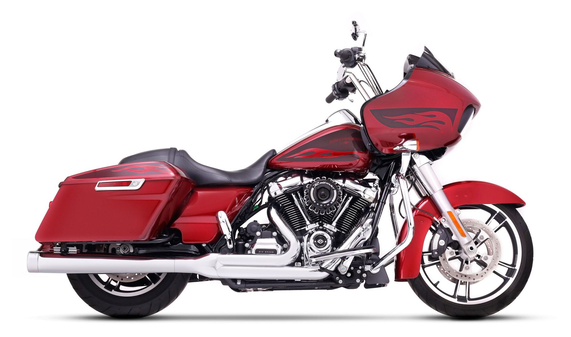 In Fashion Style Motorcycle Highway Engine Guard Crash Bar Protector For Harley Davidson Touring Road King Electra Street Glide 1997-2008 1999 Novel Design;
