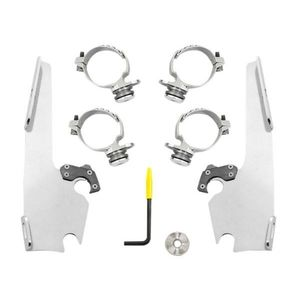 Memphis Shades Batwing Trigger-Lock Mount Kit For Harley Low Rider 2018-2019