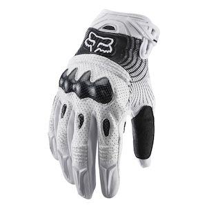 Fox Racing Bomber Gloves White/Black / SM [Demo - Good]