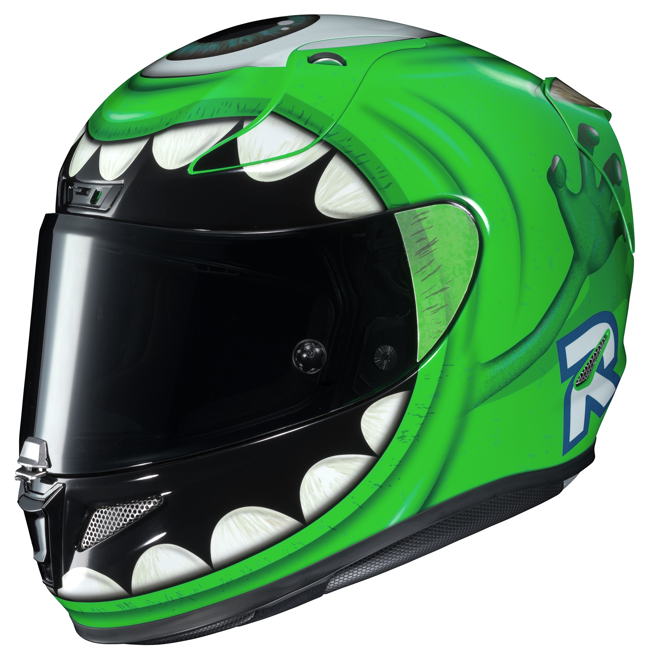 hjc rpha 11 pro mike wazowski helmet 10 off revzilla. Black Bedroom Furniture Sets. Home Design Ideas