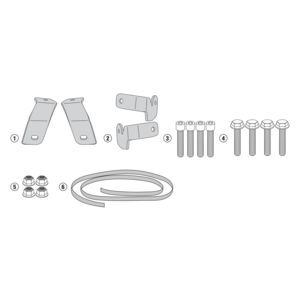 Givi 1146KIT Brackets For Side Case Racks Honda NC700X / NC750X