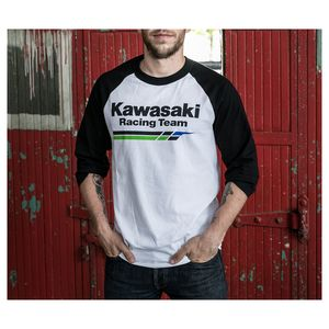 cc2e9ec3e7c Factory Effex Kawasaki Racing Baseball T-Shirt (LG)