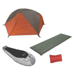 Comfort Camping Kit: Tent / Sleeping Bag / Pad / Pillow
