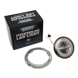 "Drag Specialties LED 7"" Headlight Kit For Harley Touring"