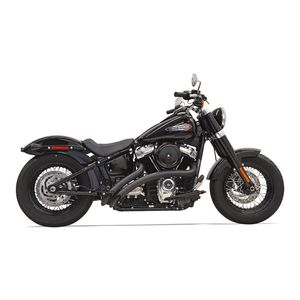 Bassani Radial Sweepers Exhaust With Heat Shields For Harley